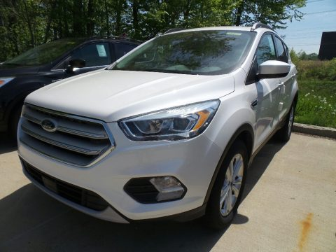 White Platinum Ford Escape SEL.  Click to enlarge.