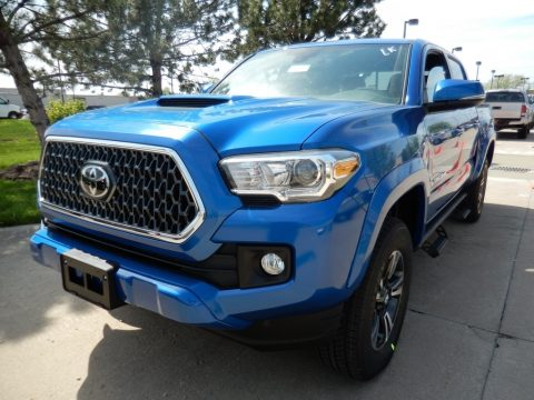 Blazing Blue Pearl Toyota Tacoma TRD Sport Double Cab 4x4.  Click to enlarge.