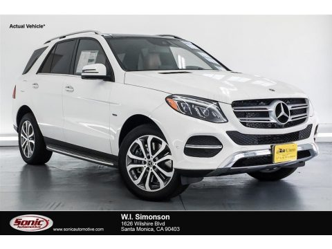 Polar White Mercedes-Benz GLE 550e 4Matic Plug-In Hybrid.  Click to enlarge.