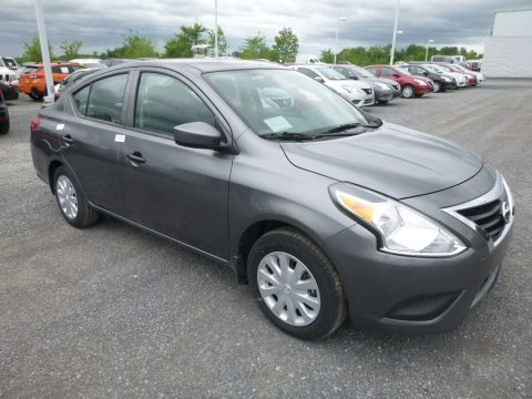 Gun Metal Metallic Nissan Versa S Plus.  Click to enlarge.