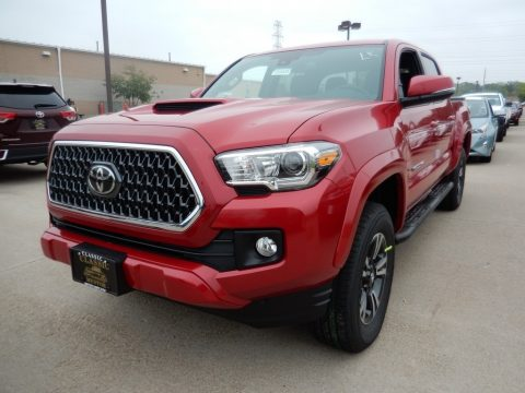 Barcelona Red Metallic Toyota Tacoma TRD Sport Double Cab 4x4.  Click to enlarge.