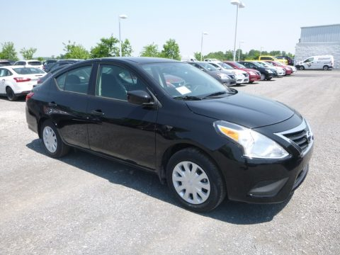 Super Black Nissan Versa S Plus.  Click to enlarge.