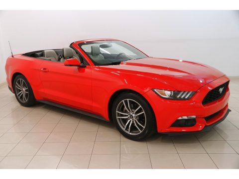 Race Red Ford Mustang EcoBoost Premium Convertible.  Click to enlarge.