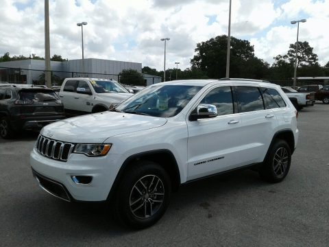 Bright White Jeep Grand Cherokee Limited.  Click to enlarge.
