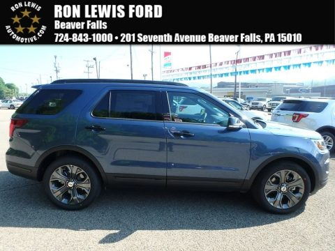 Blue Metallic Ford Explorer Sport 4WD.  Click to enlarge.