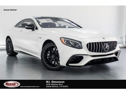 designo Cashmere White (Matte) Mercedes-Benz S AMG S63 Coupe.  Click to enlarge.