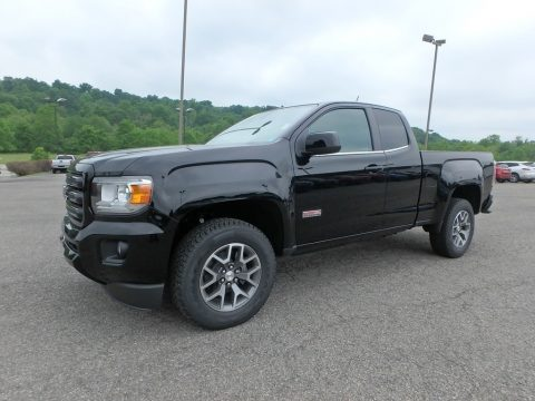 Onyx Black GMC Canyon All Terrain Extended Cab 4x4.  Click to enlarge.