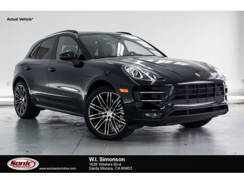 Black Porsche Macan Turbo.  Click to enlarge.