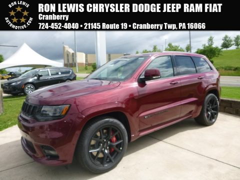 Velvet Red Pearl Jeep Grand Cherokee SRT 4x4.  Click to enlarge.