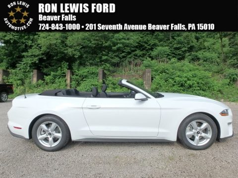 Oxford White Ford Mustang EcoBoost Convertible.  Click to enlarge.