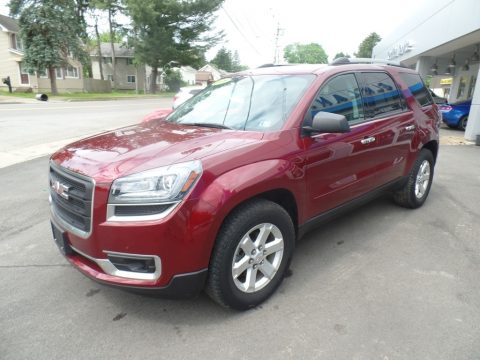 Crimson Red Tintcoat GMC Acadia SLE AWD.  Click to enlarge.