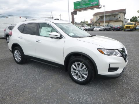 Pearl White Nissan Rogue SV AWD.  Click to enlarge.