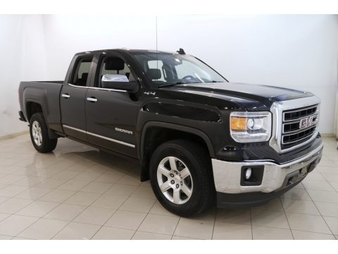 Onyx Black GMC Sierra 1500 SLT Double Cab 4x4.  Click to enlarge.