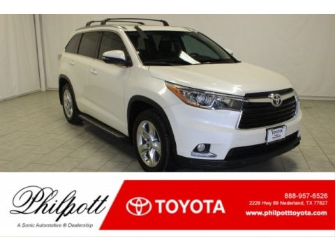 Blizzard Pearl White Toyota Highlander Limited.  Click to enlarge.