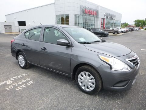 Gun Metal Metallic Nissan Versa S.  Click to enlarge.