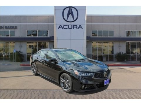 Crystal Black Pearl Acura TLX A-Spec Sedan.  Click to enlarge.