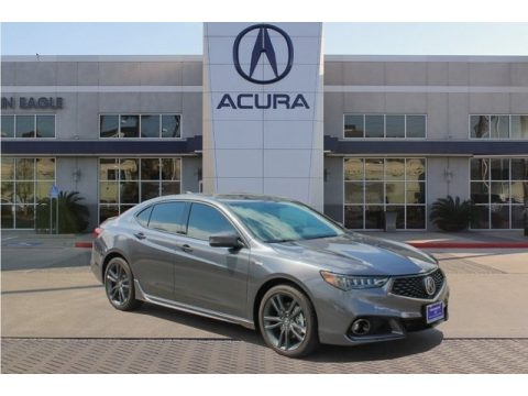 Modern Steel Metallic Acura TLX V6 A-Spec Sedan.  Click to enlarge.