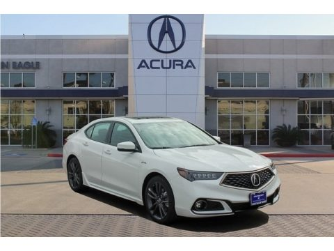 Platinum White Pearl Acura TLX V6 A-Spec Sedan.  Click to enlarge.