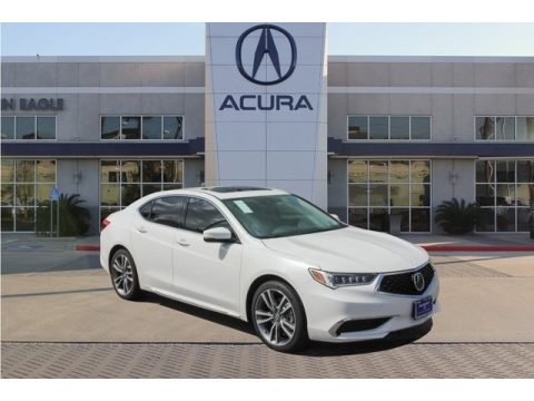 Platinum White Pearl Acura TLX V6 Sedan.  Click to enlarge.