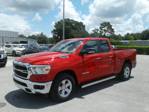Flame Red Ram 1500 Big Horn Quad Cab.  Click to enlarge.