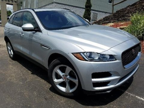 Indus Silver Metallic Jaguar F-PACE 25t AWD Premium.  Click to enlarge.