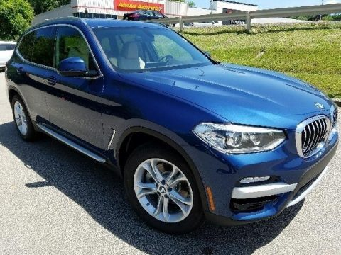 Phytonic Blue Metallic BMW X3 xDrive30i.  Click to enlarge.