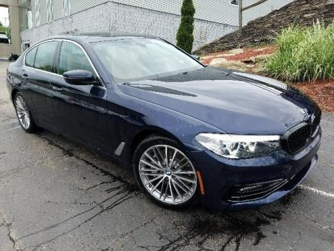 Imperial Blue Metallic BMW 5 Series 540i xDrive Sedan.  Click to enlarge.