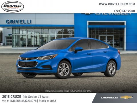 Kinetic Blue Metallic Chevrolet Cruze LT.  Click to enlarge.