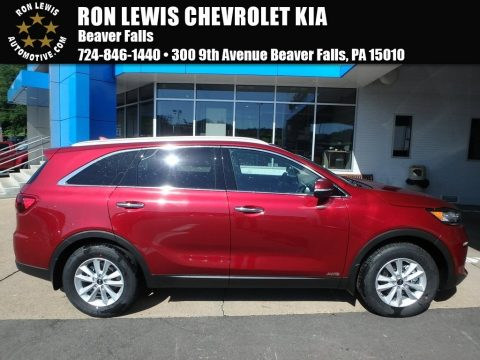 Passion Red Kia Sorento LX AWD.  Click to enlarge.