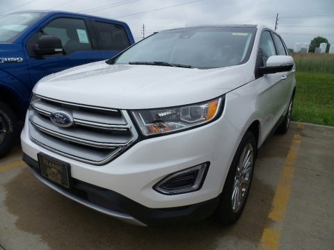 White Platinum Ford Edge Titanium AWD.  Click to enlarge.