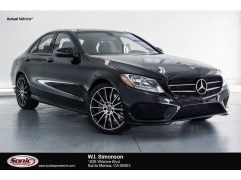 Black Mercedes-Benz C 300 Sedan.  Click to enlarge.