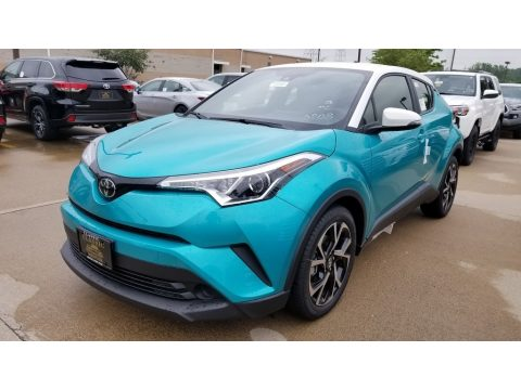 Radiant Green Mica Toyota C-HR XLE.  Click to enlarge.