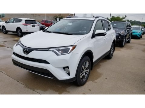 Super White Toyota RAV4 XLE.  Click to enlarge.