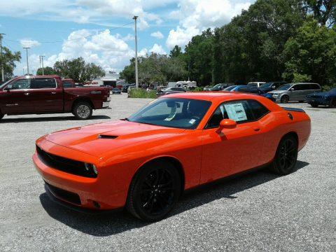 Go Mango Dodge Challenger SXT.  Click to enlarge.