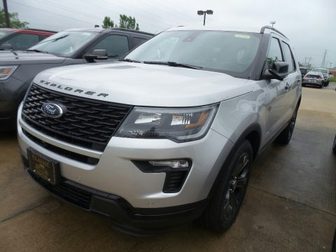 Ingot Silver Ford Explorer Sport 4WD.  Click to enlarge.