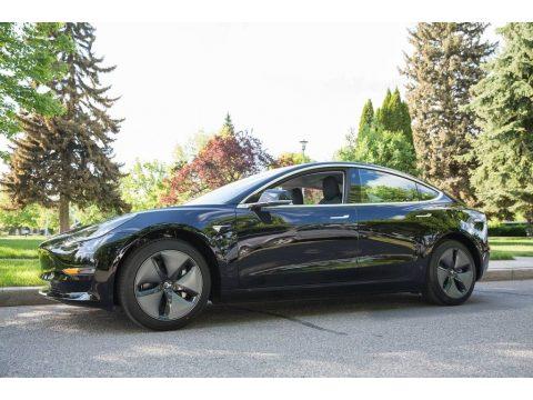 Black Tesla Model 3 Long Range.  Click to enlarge.