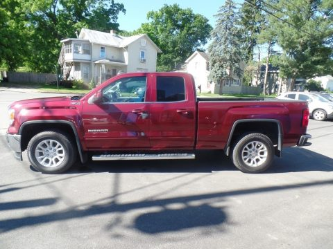 Sonoma Red Metallic GMC Sierra 1500 SLE Double Cab 4x4.  Click to enlarge.