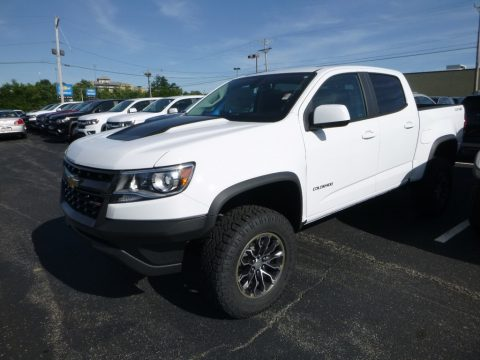 Summit White Chevrolet Colorado ZR2 Crew Cab 4x4.  Click to enlarge.