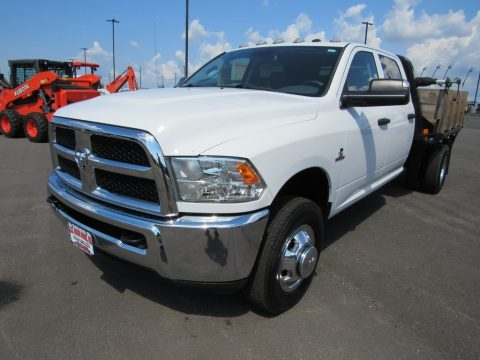 Bright White Ram 3500 Tradesman Crew Cab 4x4 Dual Rear Wheel.  Click to enlarge.