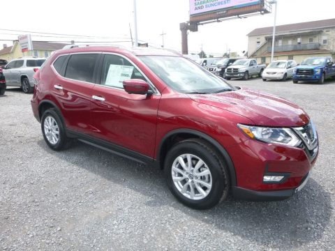 Scarlet Ember Nissan Rogue SV AWD.  Click to enlarge.