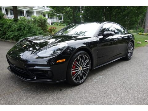 Jet Black Metallic Porsche Panamera Turbo.  Click to enlarge.