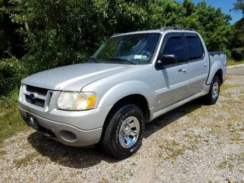 Silver Frost Metallic Ford Explorer Sport Trac 4x4.  Click to enlarge.