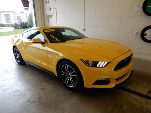 Triple Yellow Ford Mustang GT Coupe.  Click to enlarge.