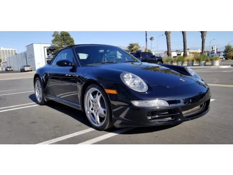 Basalt Black Metallic Porsche 911 Carrera Cabriolet.  Click to enlarge.