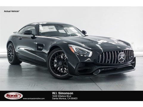 Black Mercedes-Benz AMG GT Coupe.  Click to enlarge.