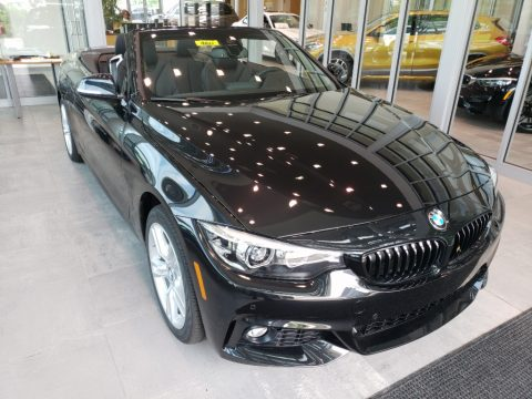 Black Sapphire Metallic BMW 4 Series 430i xDrive Convertible.  Click to enlarge.