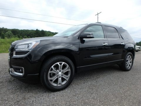 Carbon Black Metallic GMC Acadia SLT AWD.  Click to enlarge.