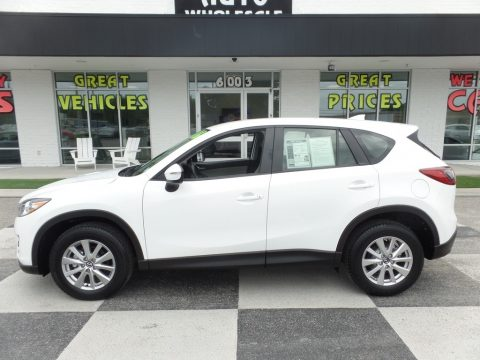 Crystal White Pearl Mica Mazda CX-5 Sport.  Click to enlarge.