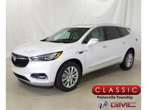 White Frost Tricoat Buick Enclave Premium AWD.  Click to enlarge.
