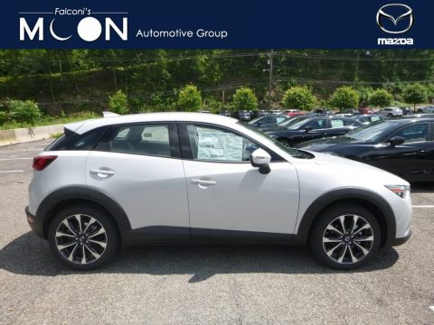 Snowflake White Pearl Mica Mazda CX-3 Touring AWD.  Click to enlarge.